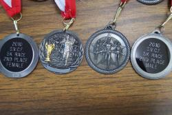 5k race 2nd place medals