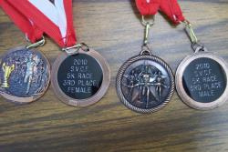 5k race 3rd place medals