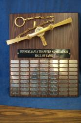 pa trappers association hall of fame plaque