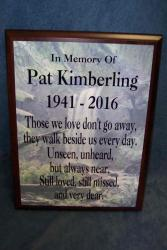 rememberance plaque