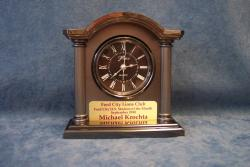 student of the month engraved clock plate